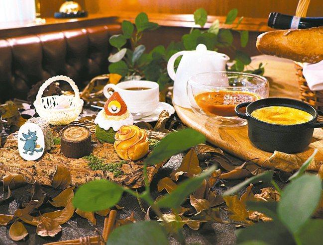 台北亞都麗緻大飯店巴賽麗廳文學下午茶-小紅帽與大野狼。 圖/台北亞都麗緻提供