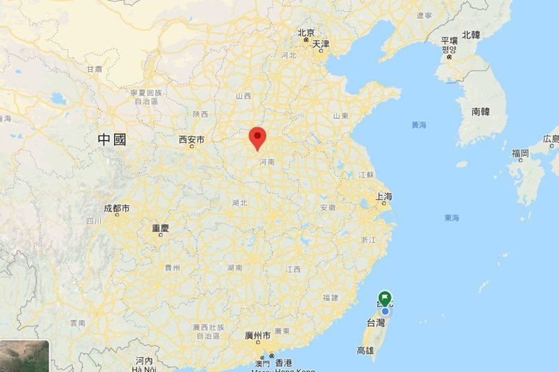 河南郟縣位置圖。 圖/擷取自GOOGLE地圖