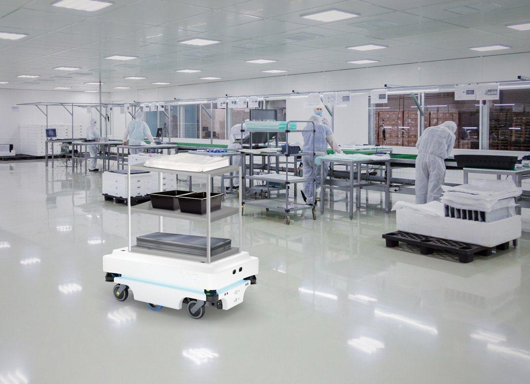 所羅門自主移動機器人搬運車能協助提升工廠配送效能。