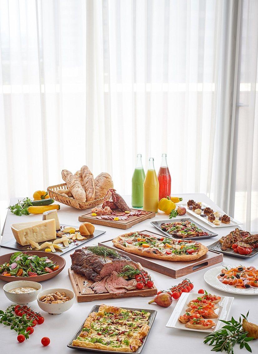台北美福大飯店GMT週末都會舒活早午餐。業者/提供