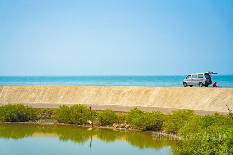 順著青草崙堤防不斷往西,即能發現目的地。圖/部落客懷陞足跡授權