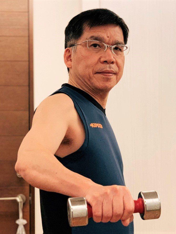 耳鼻喉科醫師許慶芳持續健身10年不中斷。 圖/許慶芳提供