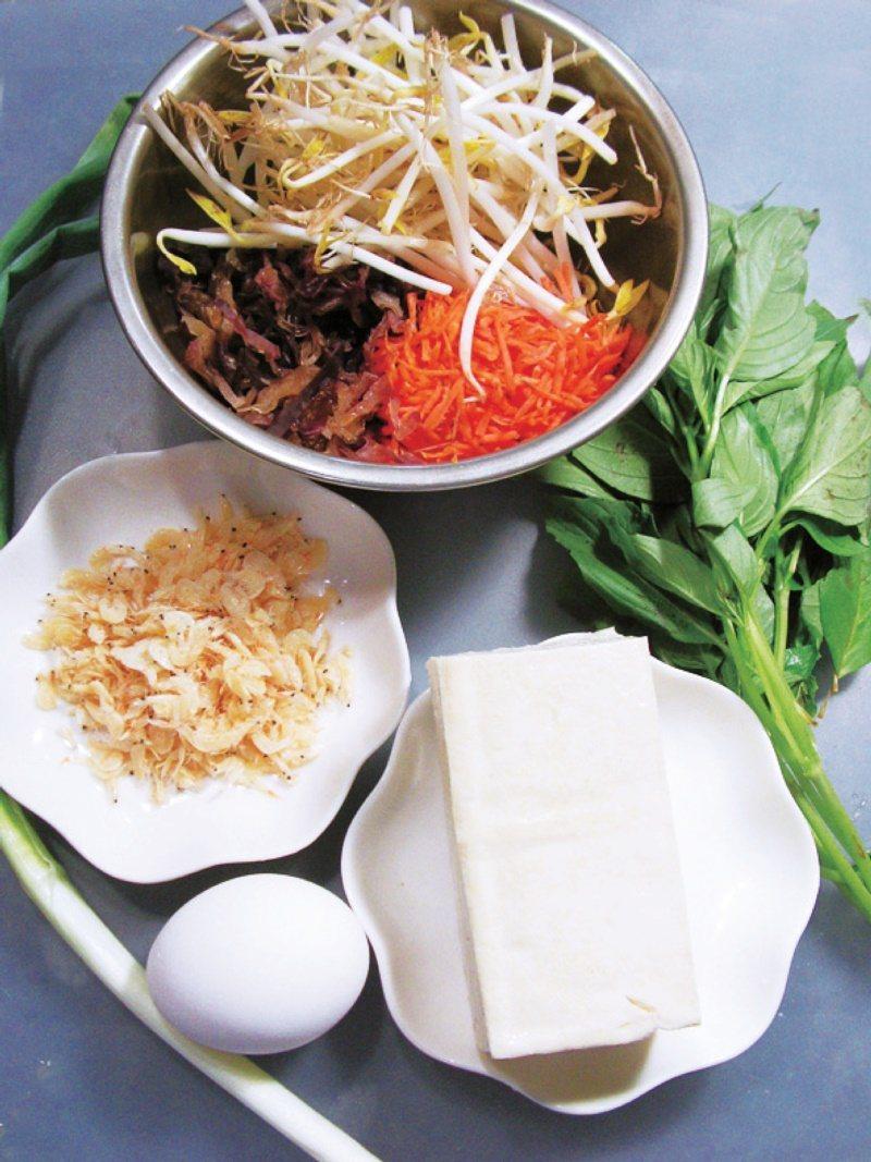 煎餅食譜一:蔬菜豆腐煎餅。 圖/幸福文化提供