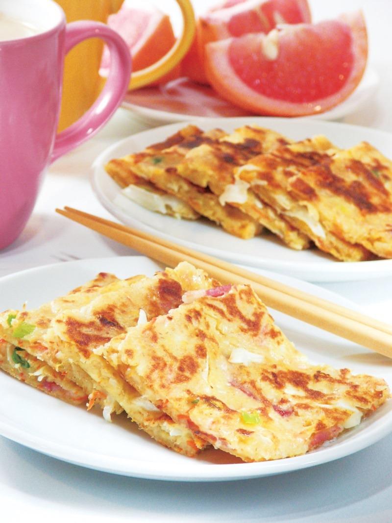 煎餅食譜二:乳酪蔬菜煎餅。 圖/幸福文化提供