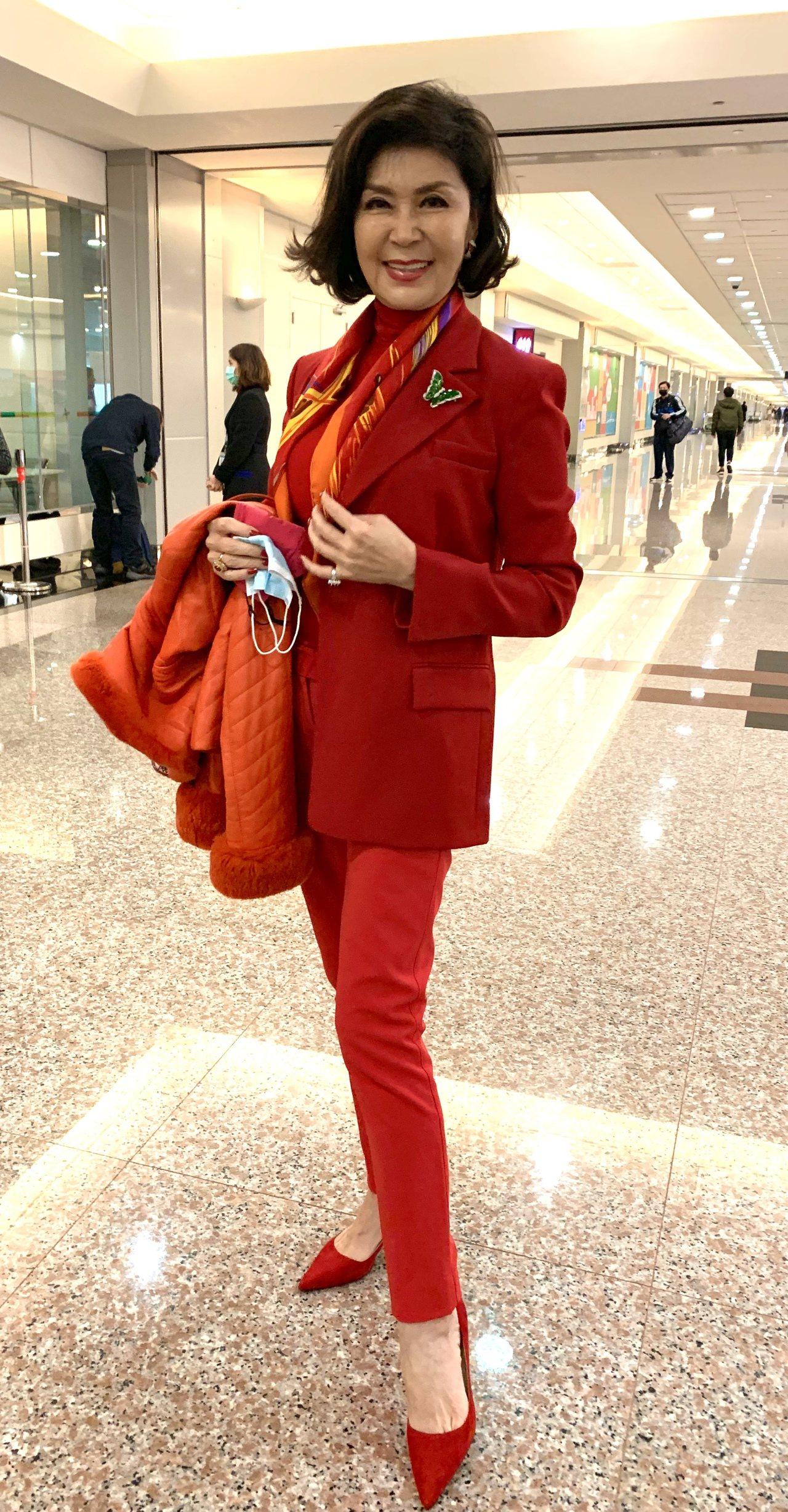 有「最美麗主持人」稱號的白嘉莉。 圖/陳嘉寧 攝影