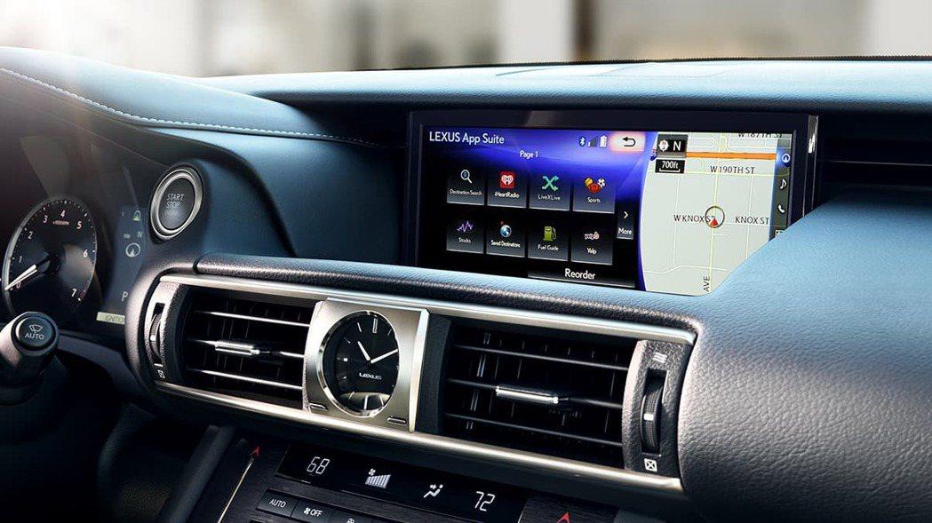 10月份改款後的IS中控螢幕將該為觸控式。 摘自Lexus