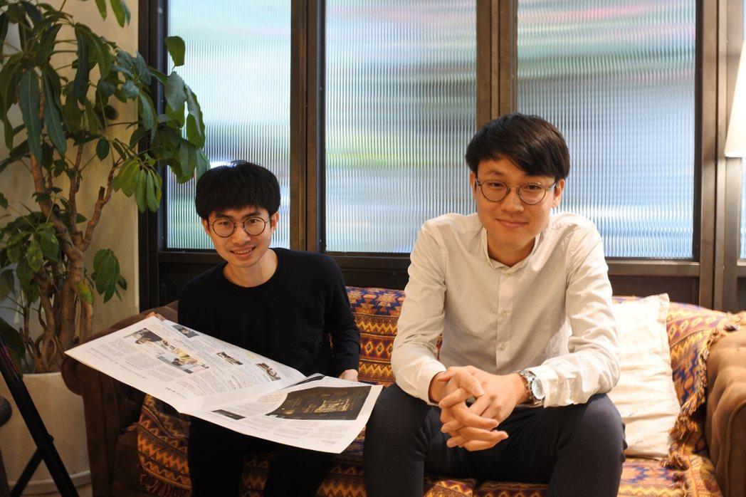 玖樓創辦人柯伯麟(左)與王維綱 圖/游千慧拍攝