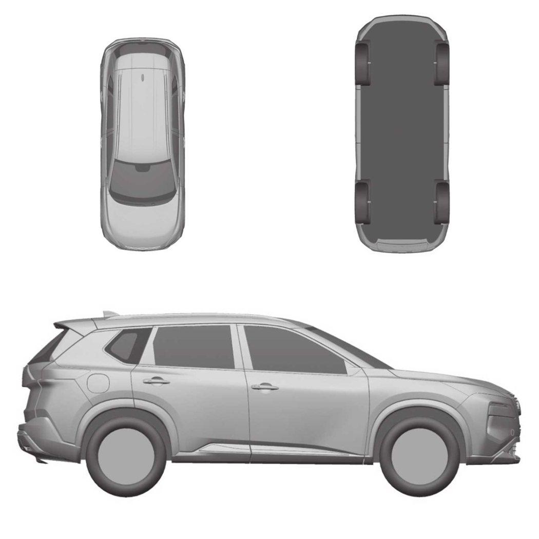 新一代Nissan X-Trail/Rogue專利圖外觀。 摘自Motor1