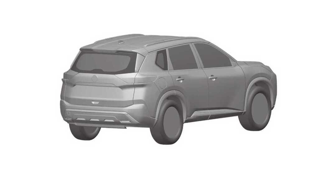 新一代Nissan X-Trail/Rogue車尾部分也做了更前衛的肌肉線條設計...