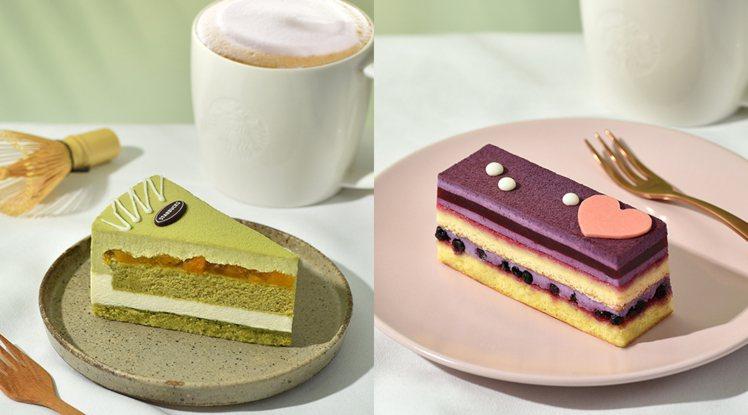 「抹茶蜜桃起司蛋糕」以濃厚抹茶搭配香甜水蜜桃,「藍莓黑醋栗蛋糕」由藍莓搭配清新黑...