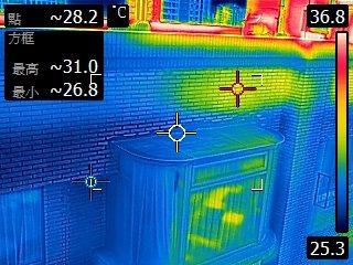 進行社區大樓外牆漏水,可精準定位外牆磁磚及窗框漏水位置。業者/提供
