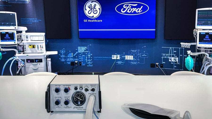 福特將與奇異醫療合作在100天內於密歇根州的一家工廠生產5萬台呼吸器,以因應新冠...