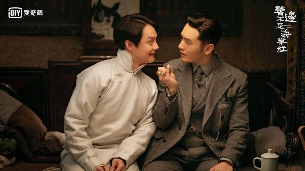 黃曉明(右)、尹正戲裡互動深受網友喜愛。圖/愛奇藝台灣站提供