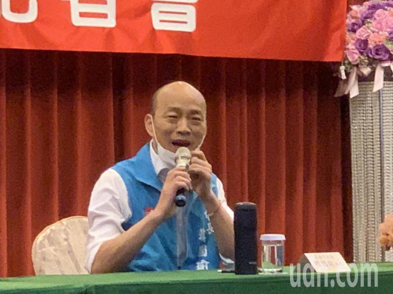 罷韓公民團體在3月9日提交約40萬份第2階段的罷韓連署書給主辦機關高雄市選委會,依選罷法規定,要在40天內完成查對。圖為高雄市長韓國瑜。 圖/聯合報系資料照片