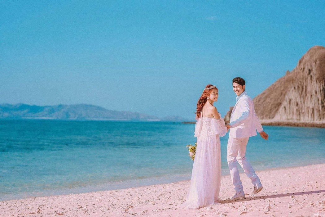 黃玉榮曝光與老婆浪漫婚紗照。圖/湧承娛樂提供