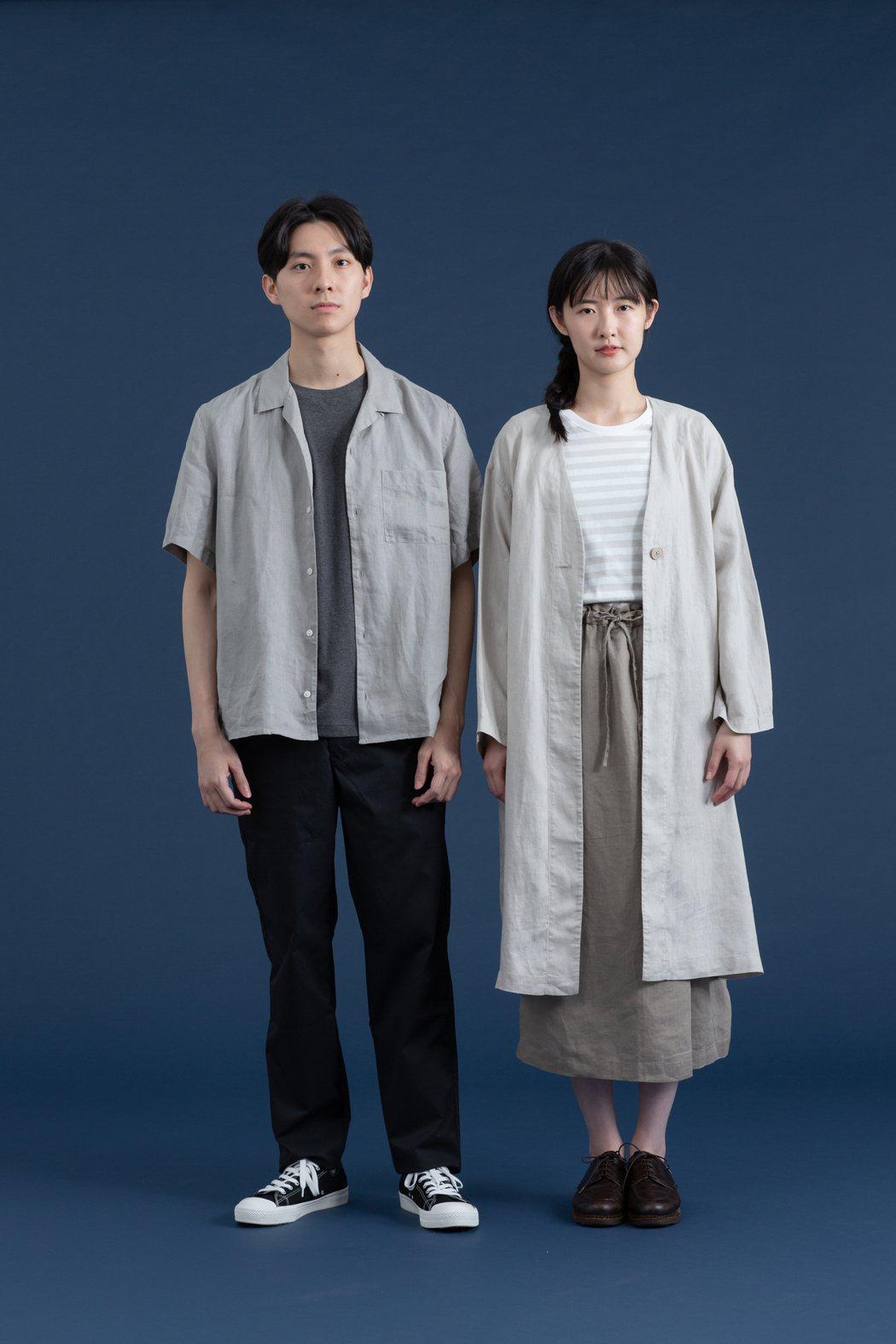 4/2至5/10購買亞麻男女裝全系列9折優惠。圖/無印良品提供