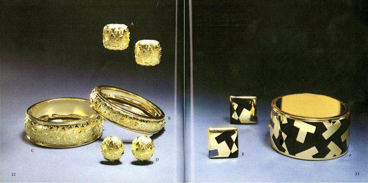 Tiffany 1980年代古典珍藏庫作品大量運用具有品牌辨識度的開頭字母T為圖...