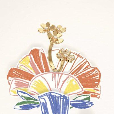 Alexandre Benjamin Navet為梵克雅寶創作一系列結合花卉珠寶...
