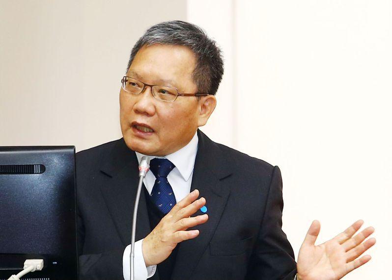 財政部長蘇建榮。 聯合報記者杜建重/攝影