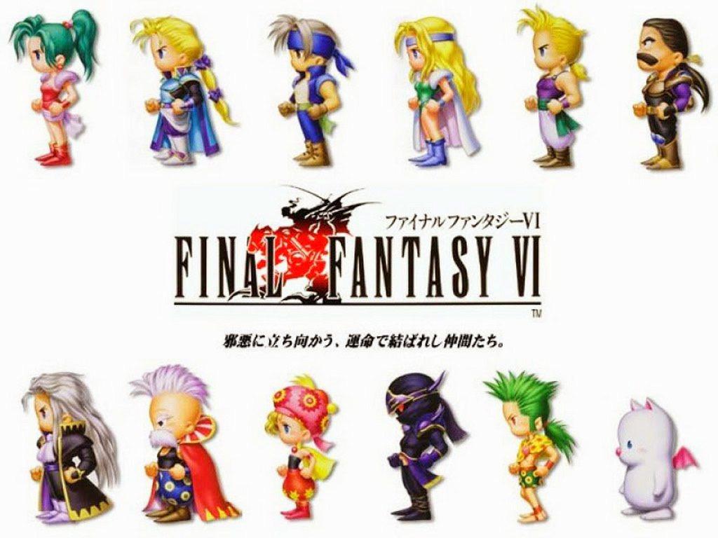 FF6 的主角群數目是系列最多的,總共有 14 位角色,圖片上僅有 12 位,遊...