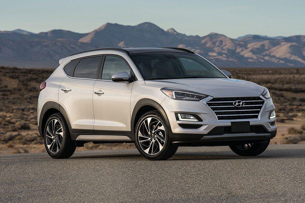 第四為Hyundai Tucson,去年總銷售53.0萬輛、。 圖/Hyunda...