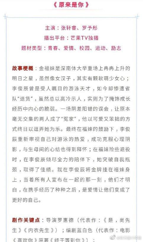 網傳陸版「金福珠」主角人選及劇情內容。圖/擷自微博