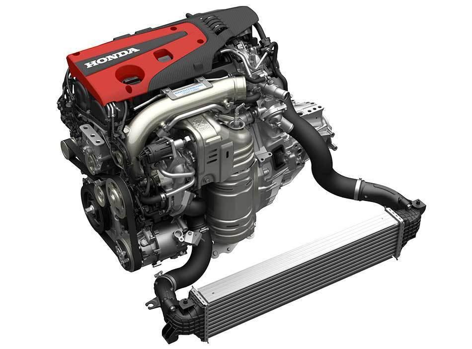 Honda K20C直列四缸渦輪增壓引擎。 摘自Honda