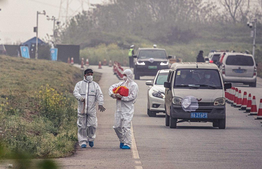 「這麼多人和動物,這回算是都白死了?!」圖為骨灰返鄉的武漢人。 圖/路透社