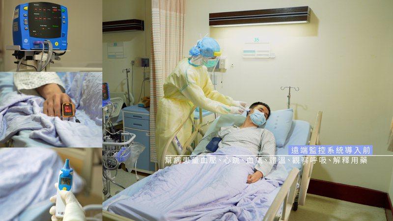 振興醫院負壓隔離病房護理長楊淑如表示,護理人員每日進出隔離病房達12次之多,每次進入都須全副武裝,工作任務包括監測患者的生理變化與配合醫師給藥。圖/振興醫院提供