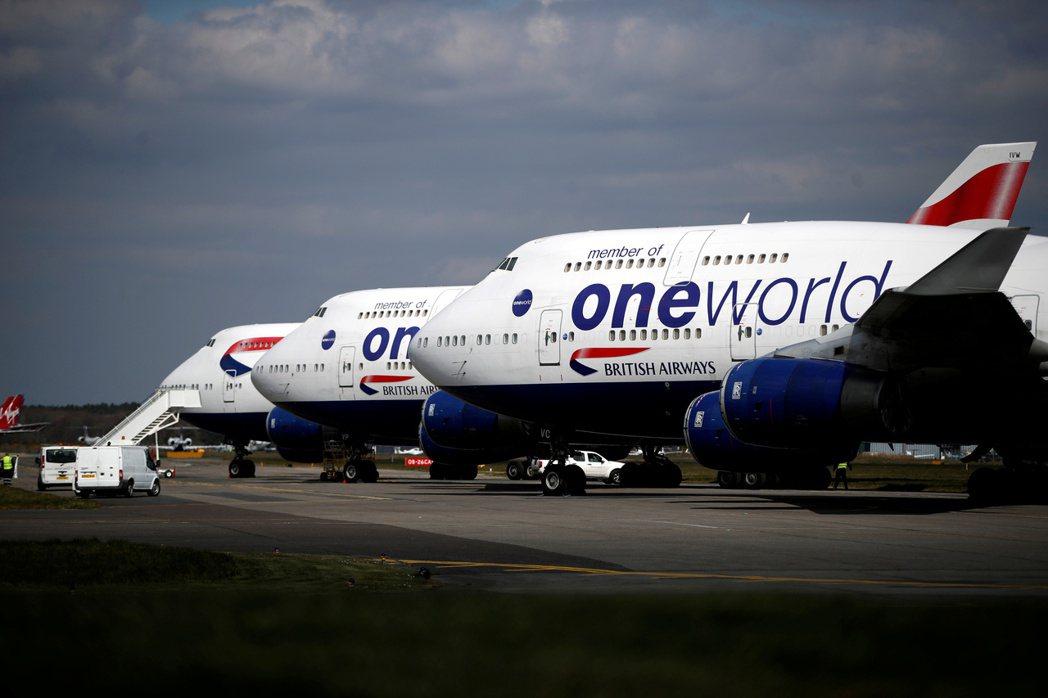 受到新冠肺炎(COVID-19)疫情影響,英國航空(British Airway...