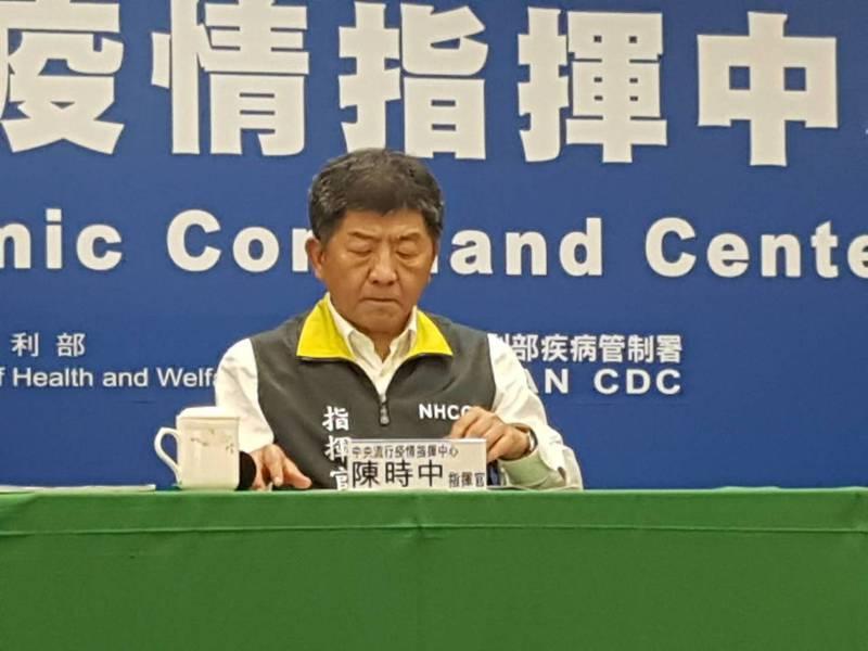 中央流行疫情指揮中心4月2日記者會,指揮官陳時中澄清謠言。記者楊雅棠/攝影