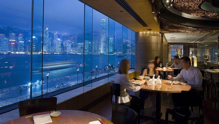 香港洲際酒店景觀一絕。圖/摘自酒店官網