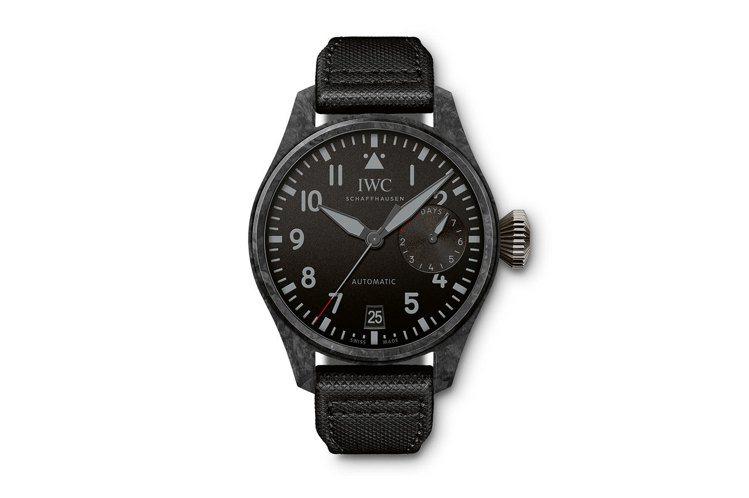 IWC,大飛行員自動腕表黑色碳纖維版本,精鋼,46.5毫米,自動上鍊機芯,時間顯...