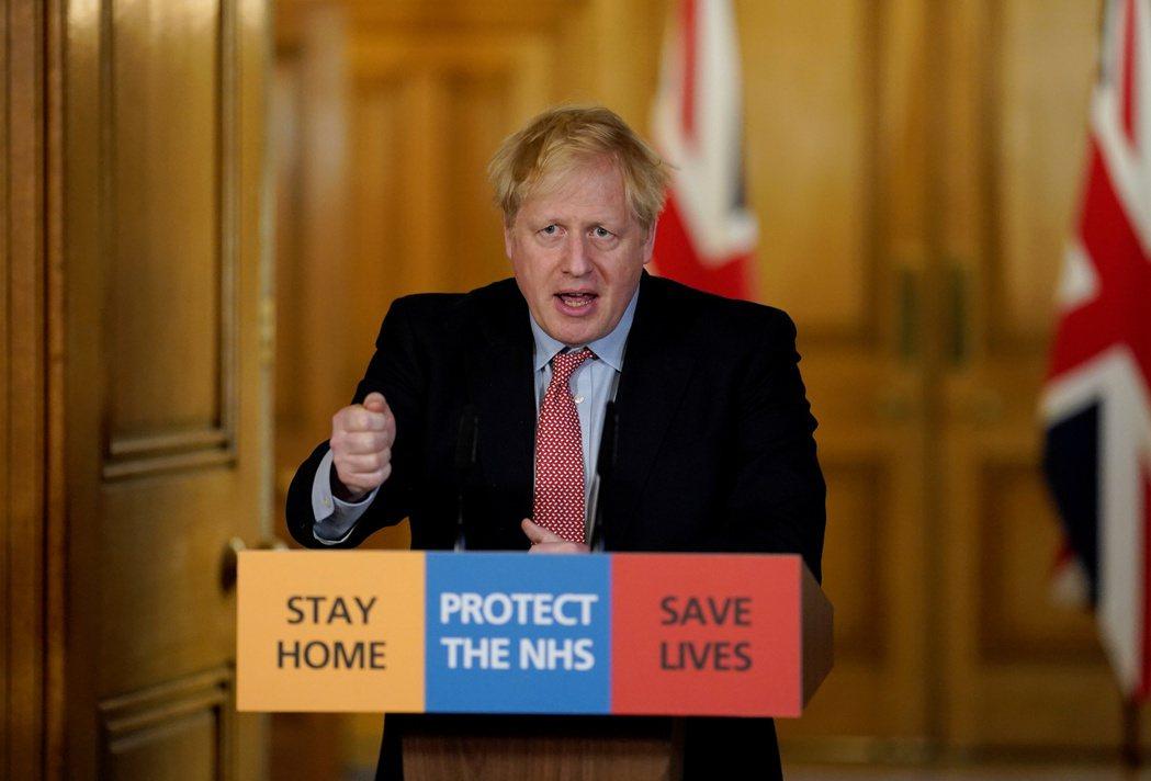 英國首相強生染疫一周後,仍有輕微症狀。路透資料照片