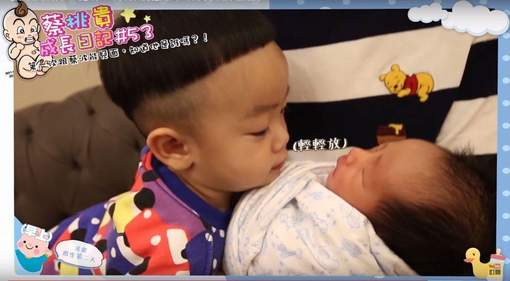 蔡氏小兄弟桃貴與波能的首次見面。圖/擷自YouTube