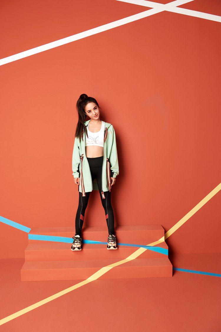 PUMA代言人演繹全新的FIRST MILE環保機能系列外套、鞋款。圖/PUMA...