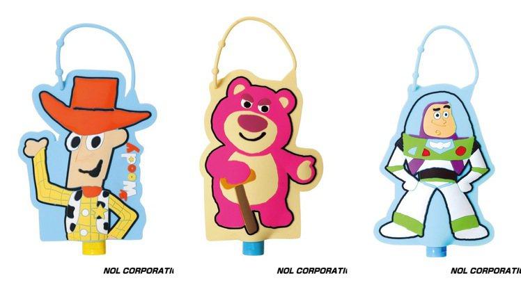 玩具總動員乾洗手凝露,各售價370元。圖/台隆手創館提供