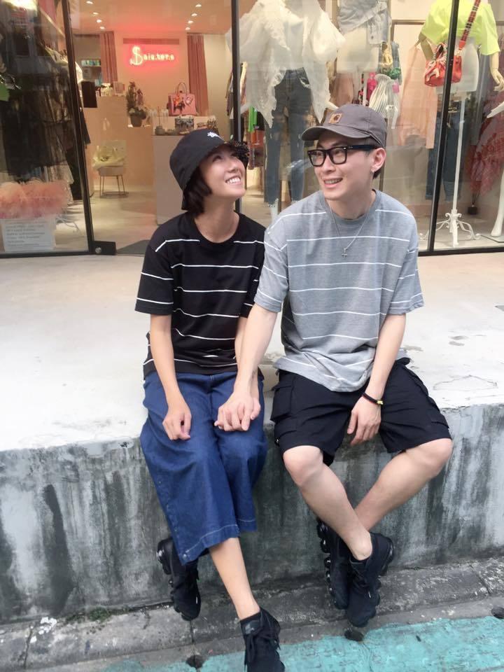 大牙(左)和男友阿廖師感情穩定,決定繼續走下去。圖/大牙提供