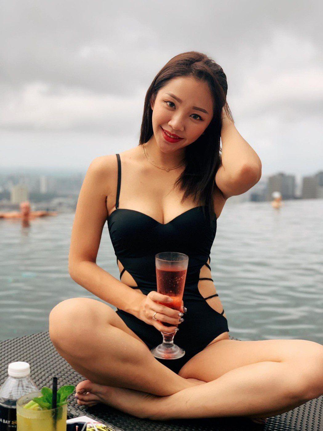23歲賴慧如已是一個3歲孩子的媽,身材姣好。圖/翻攝臉書