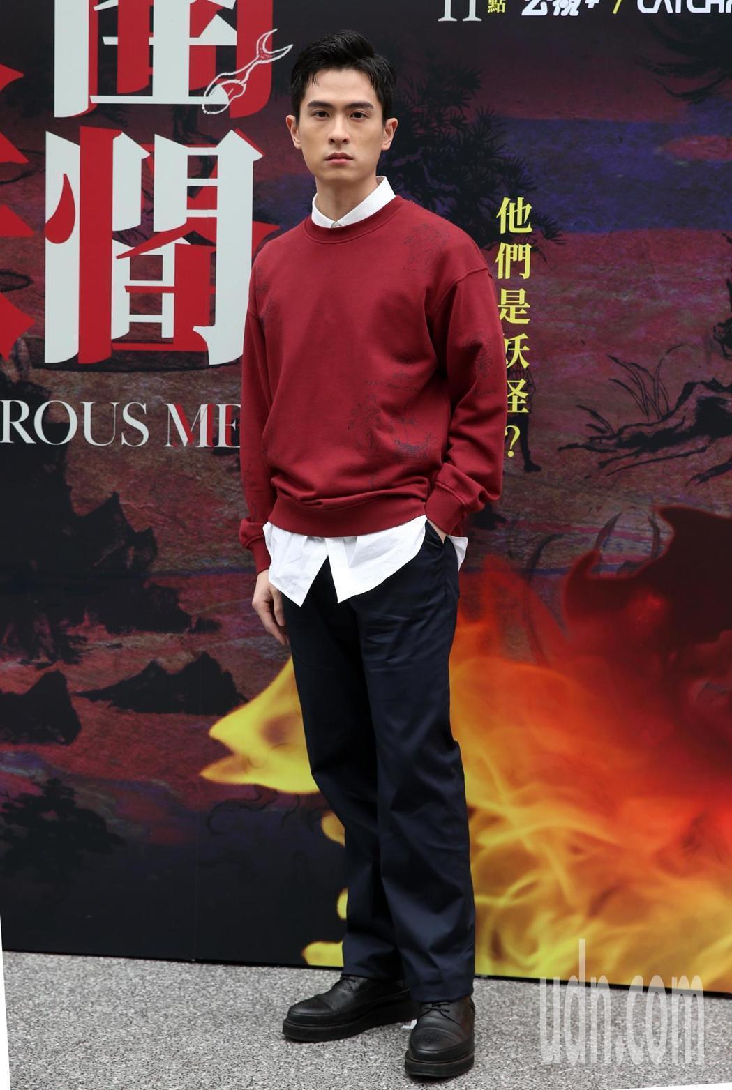 石知田在「妖怪人間」中飾演文書紀錄員。記者曾吉松/攝影