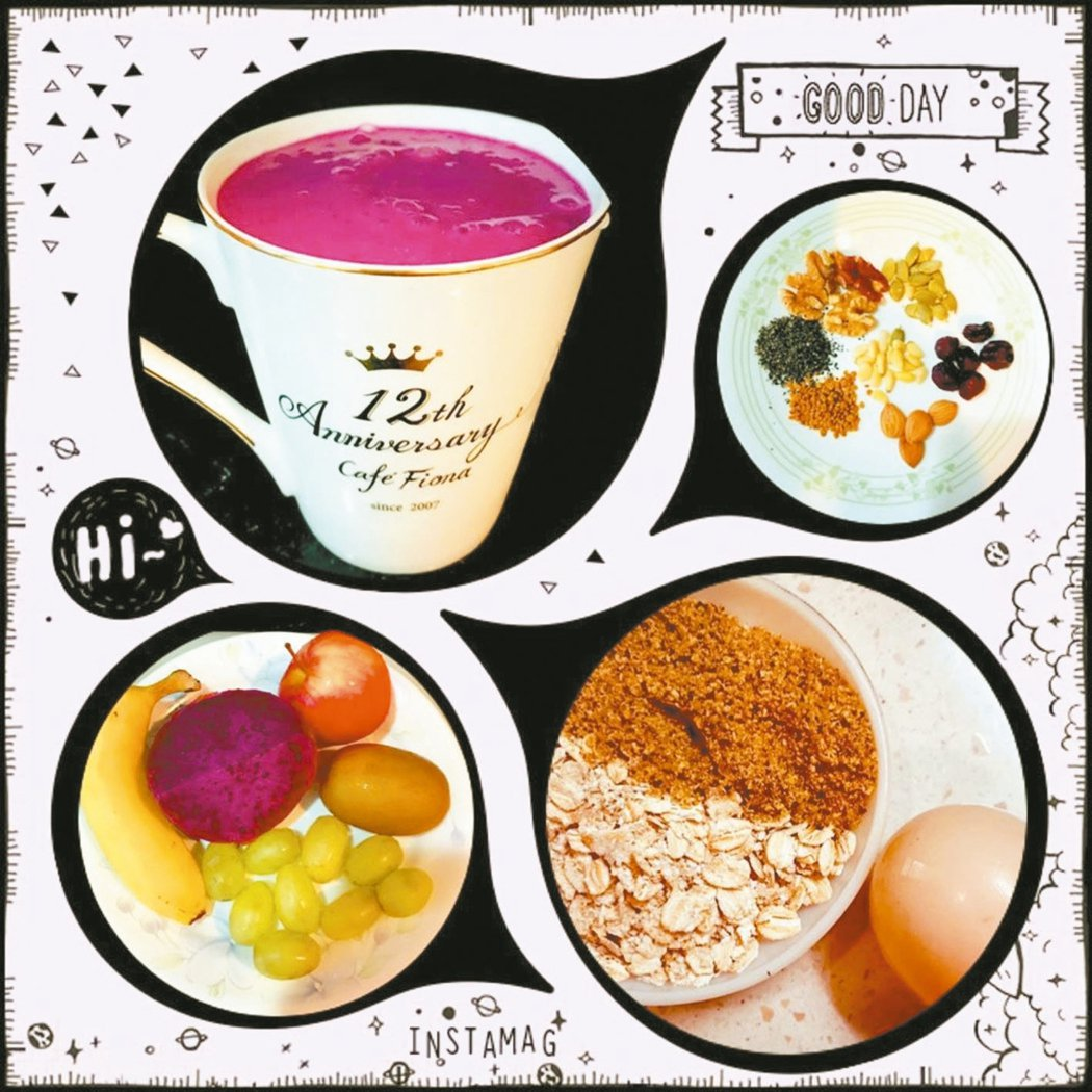 每天早晨自製一杯精力湯。圖/王秀蘭提供