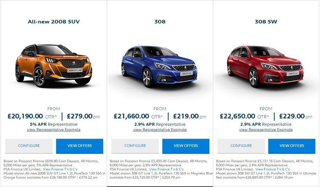 摘自Peugeot UK