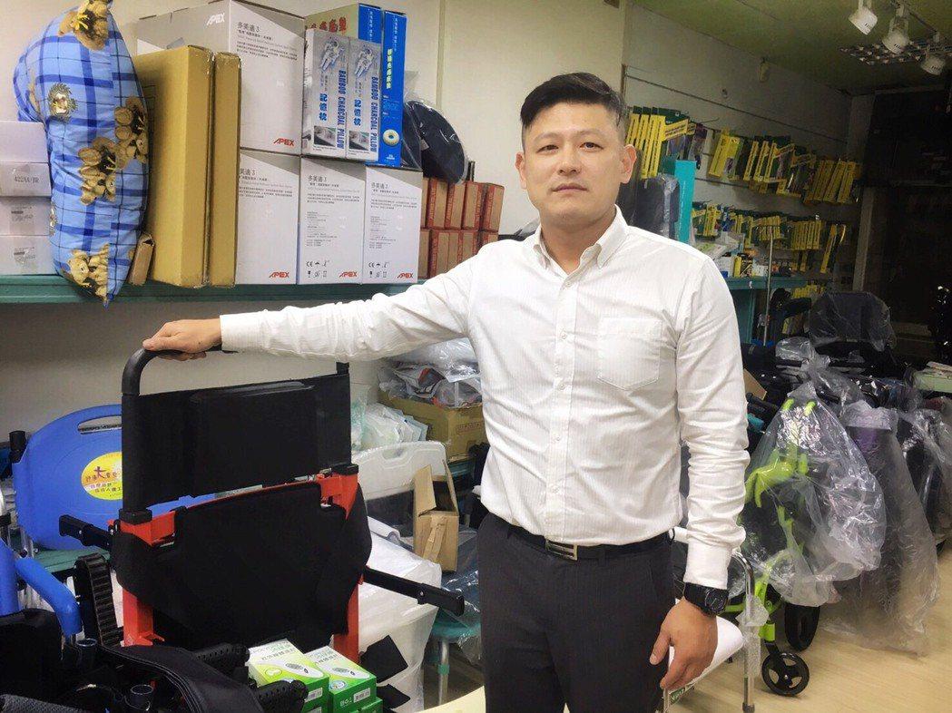 修修醫電公司創辦人石維剛。 吳佳汾/攝影