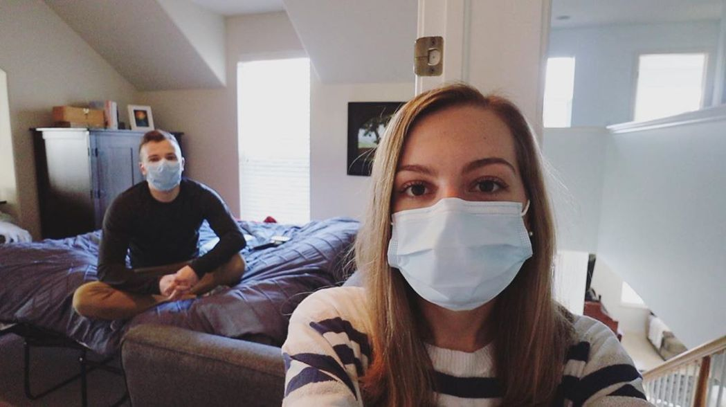 莫彩曦與老公現在居家檢疫14天。 圖/擷自莫彩曦IG