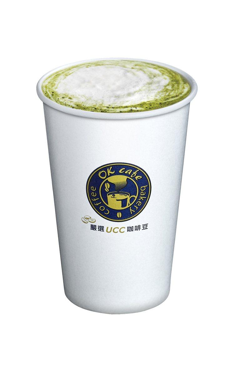 OKmart海鹽抹茶拿鐵,新品嘗鮮價55元。圖/OKmart提供