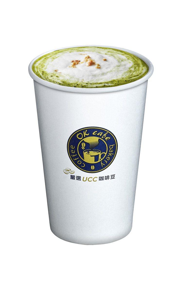 OKmart玄米海鹽抹茶拿鐵,新品嘗鮮價60元。圖/OKmart提供