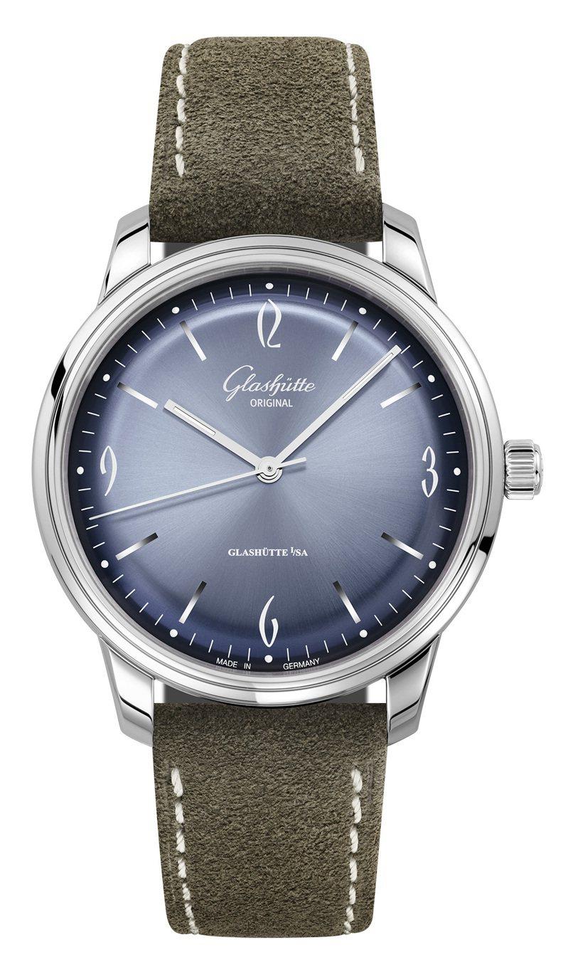 Glashütte Original,Sixties系列自動腕表,精鋼,39毫米,時間顯示,價格未定。圖 / Glashütte Original提供。