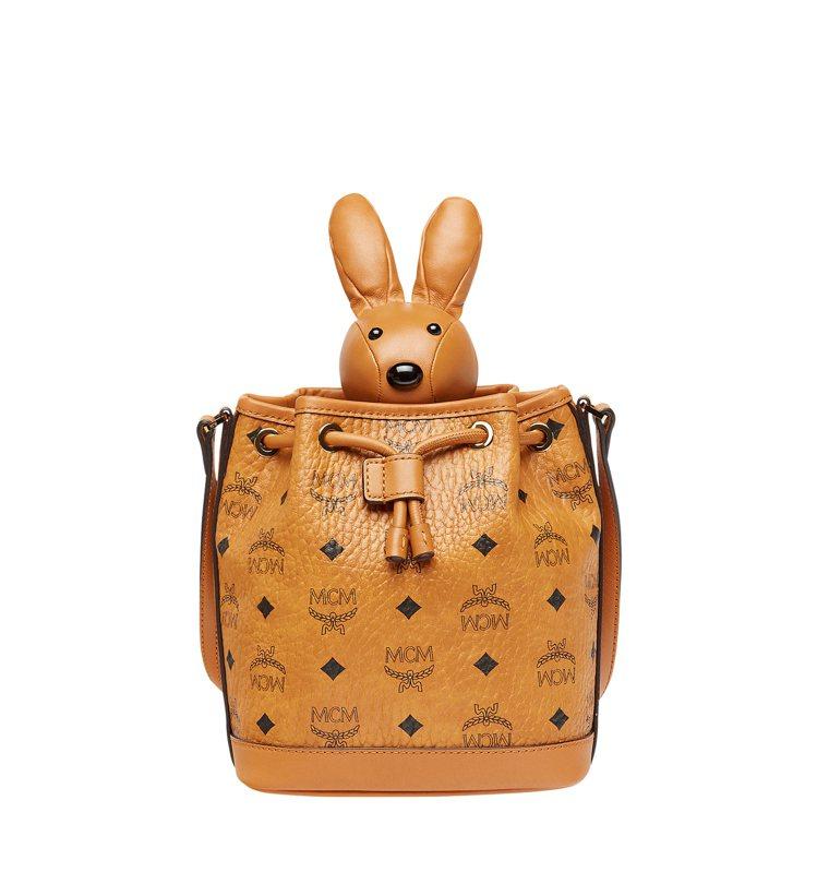 Zoo干邑色兔子抽繩包,售價30,000元。圖/MCM提供