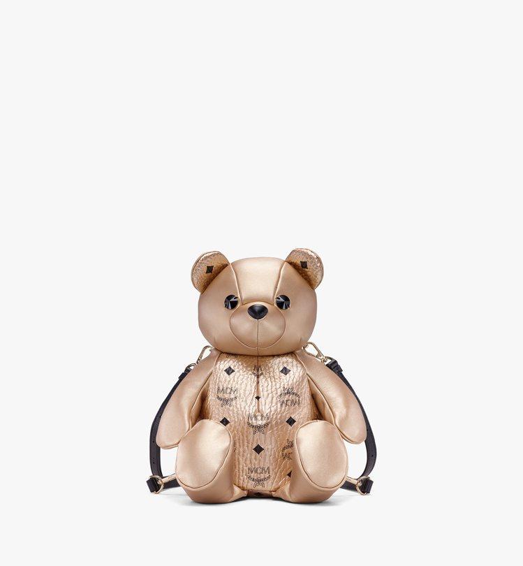 Zoo金色熊熊後背包,售價28,500元。圖/MCM提供