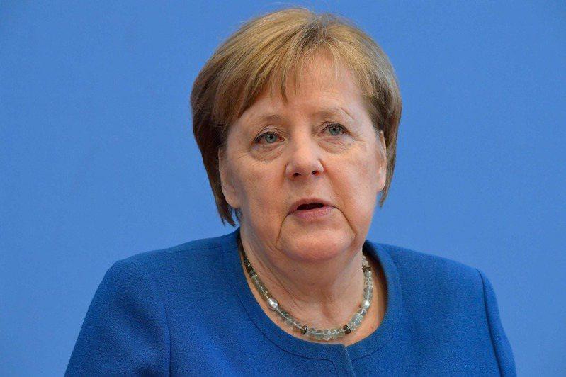 德國總理梅克爾。法新社
